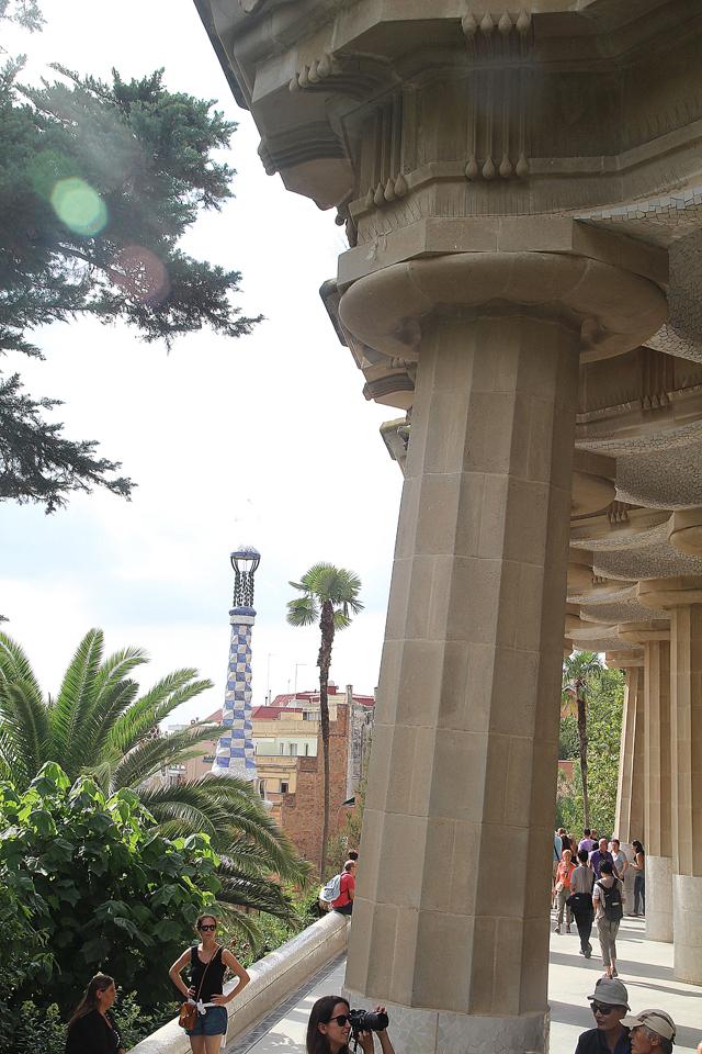 Barcelona Park Guell column