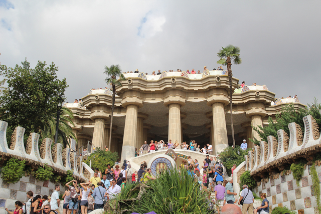 Barcelona Park Guell view from entrance