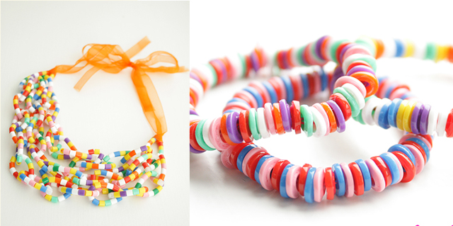Hama bead necklaces and bracelets