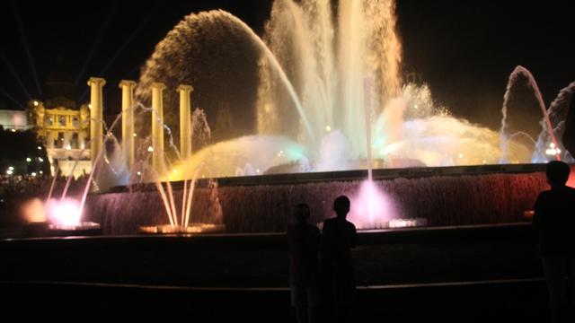 Barcelona Magic Fountain with columns