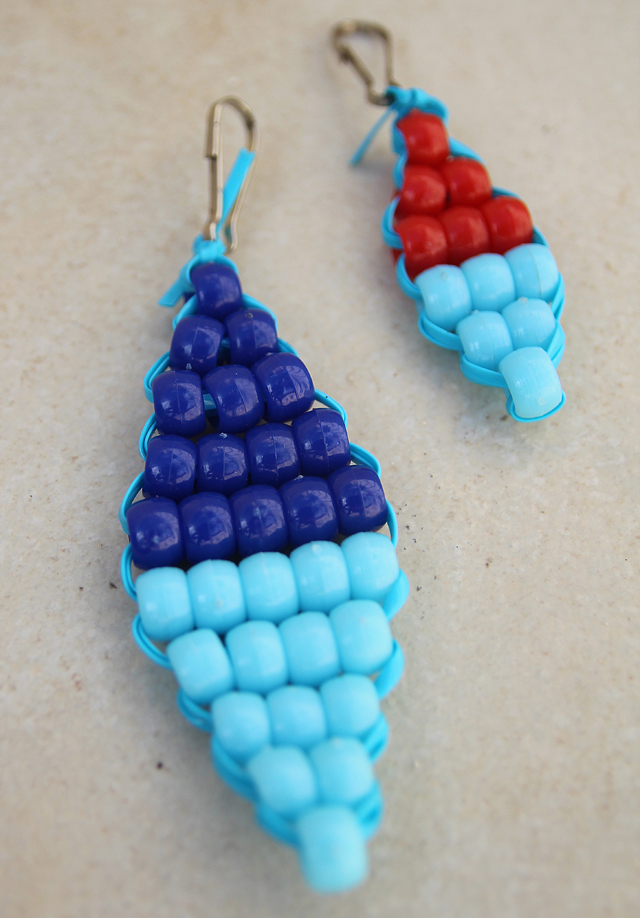 Beaded zipper Pulls indian beading