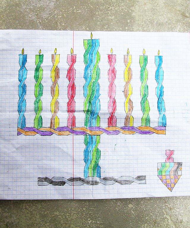 hanukkah drawings on graph paper re visited creative jewish mom