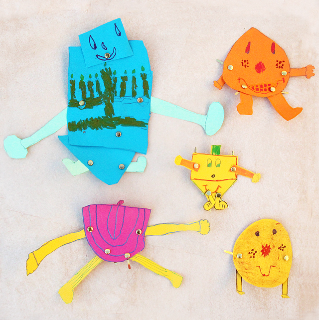 Hanukkah Dancing Paper Characters Kid's craft