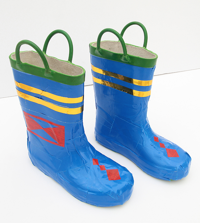Duct Tape Costume Boots