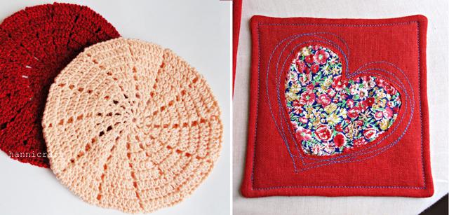 Crocheted beanie pattern,reverse applique coaster
