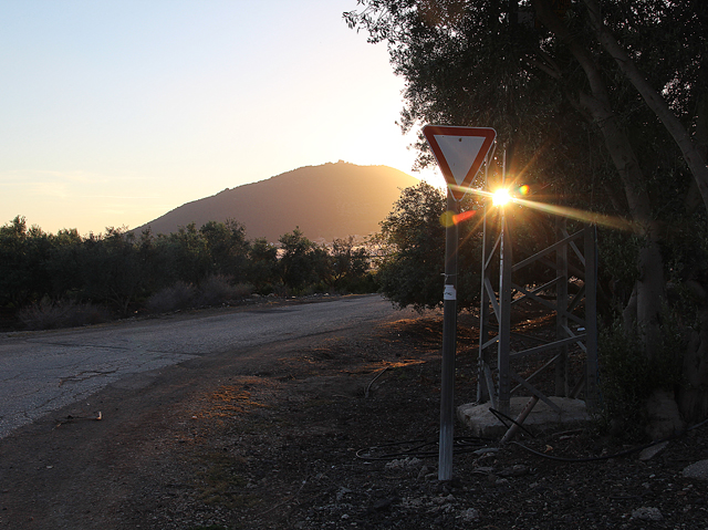 Mount Tabor sun setting in kefar tavor