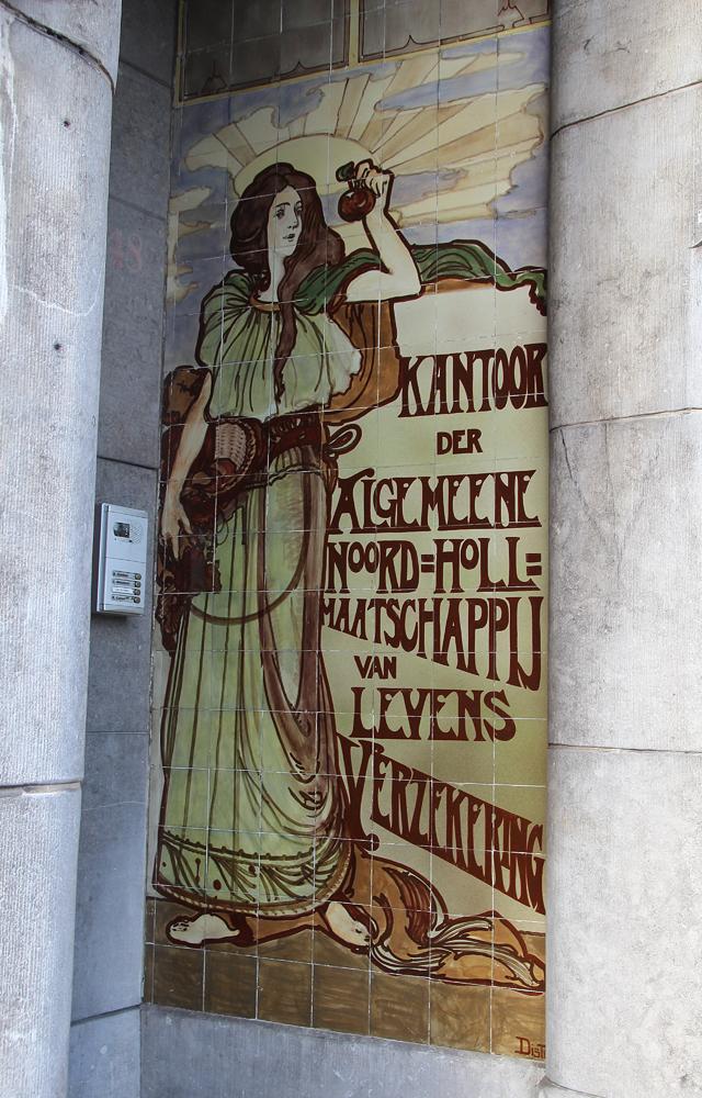 Haarlem, Art Nouveau Tile installation
