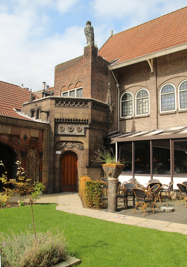 Delft royal delft factory garden