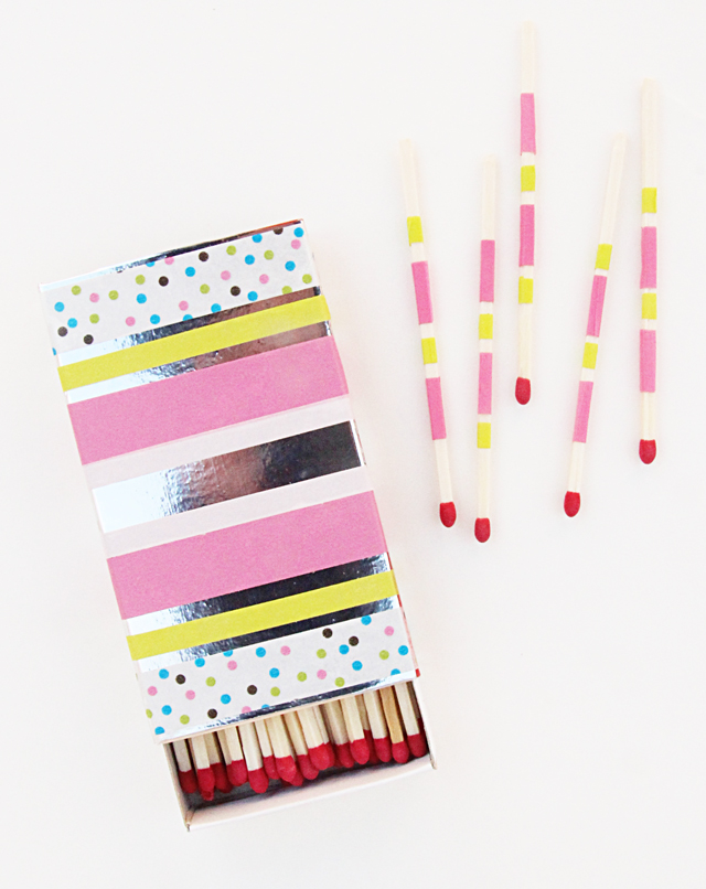 Washi Tape Matchbook For Chanukah