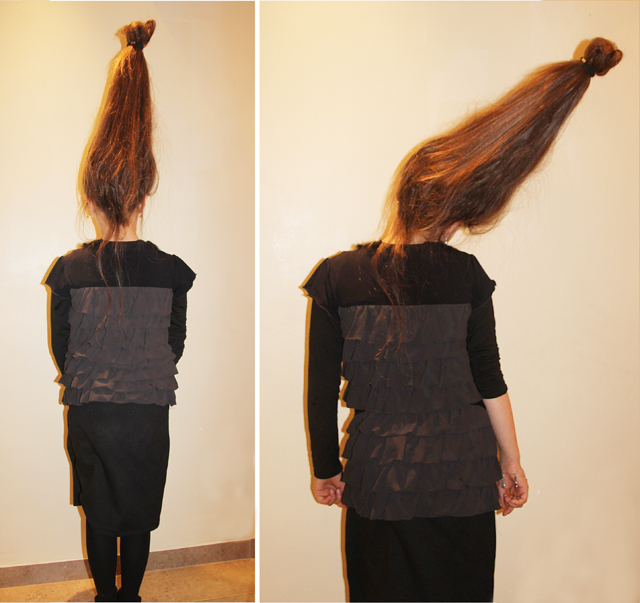 Purim Costume for long hair