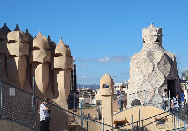 Casa Mila Roof Mosaic