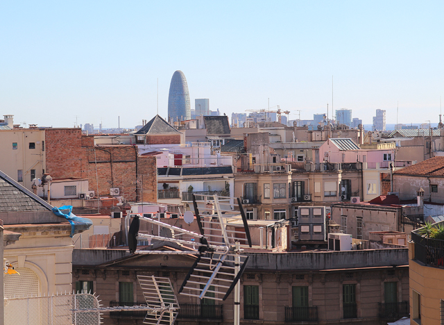 Casa Mila, view of Agbar from roof