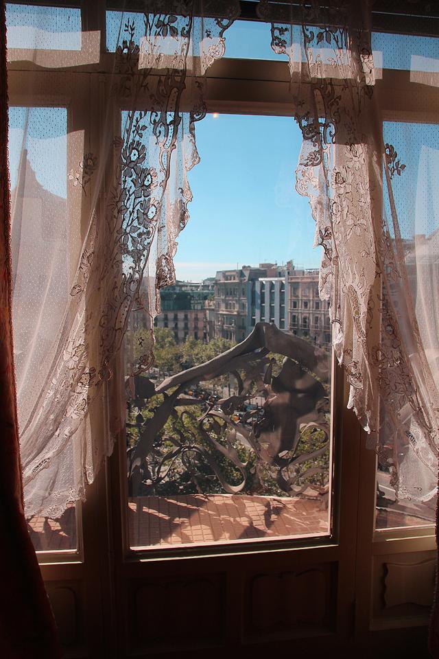 Casa Mila Apartment looking out onto passeig de gracia