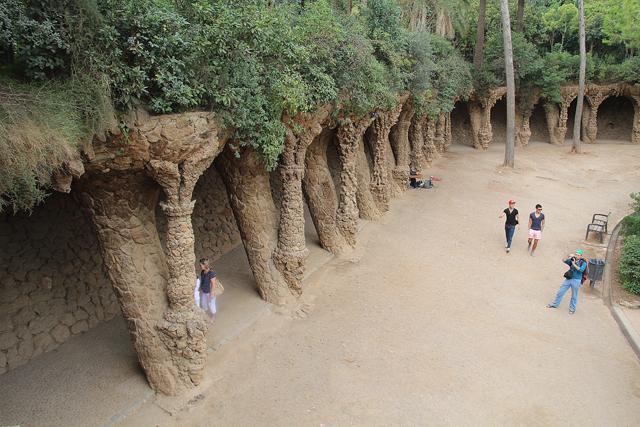 Barcelona Park Guell Stalagmites