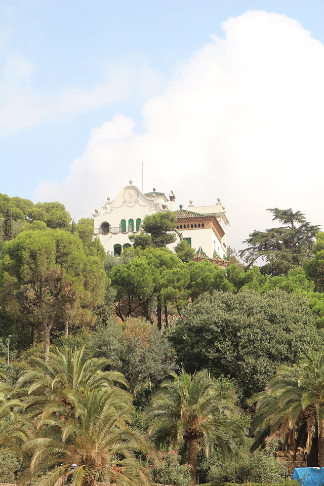 Barcelona Park Guell house on hill