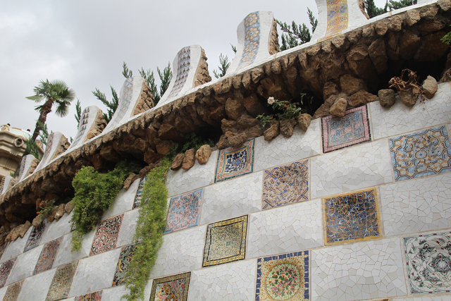 Barcelona Park Guell mosaic wall