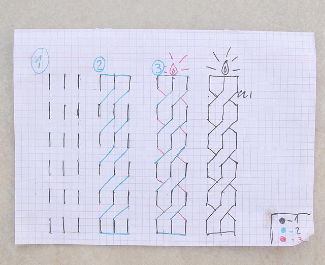 Hanukkah candle doodle