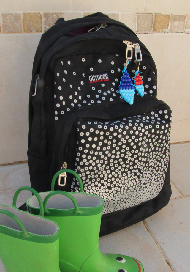 Beaded Zipper Pulls With boots