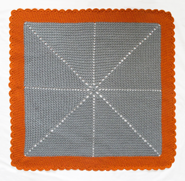 Crocheted Starburst Baby Blanket Whole