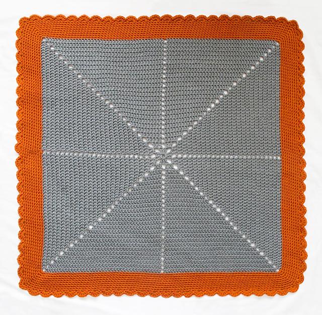 Crocheted Starburst Baby Blanket Whole