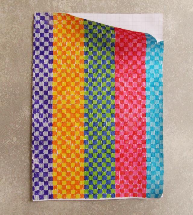 Hanukkah Graph Paper Drawing