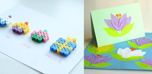 Hama cupcake card,crocus card craft
