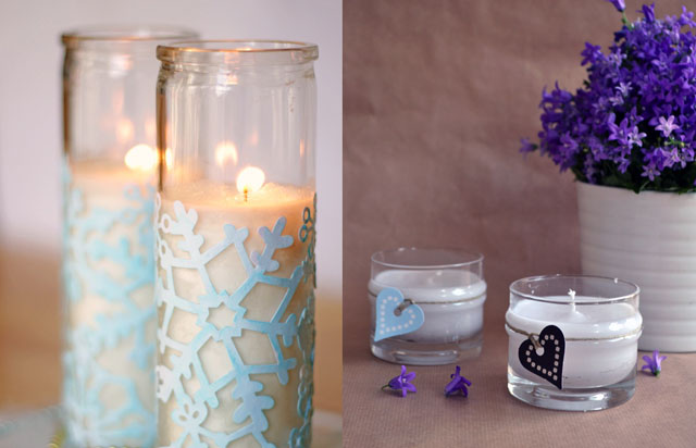 Scented candle diy,decoupage candle