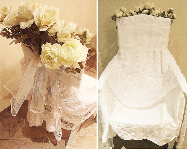 Bridal Chair DIY simple front and backview