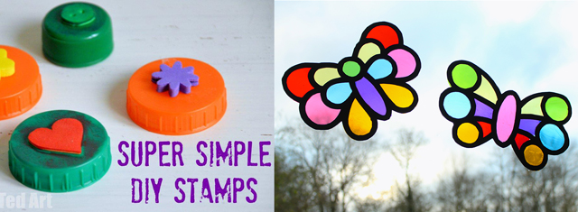 DIY stamps,stained glass kid's art