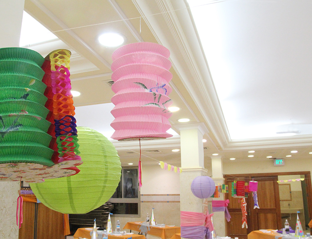 Purim Party Decorations With chinese lanterns