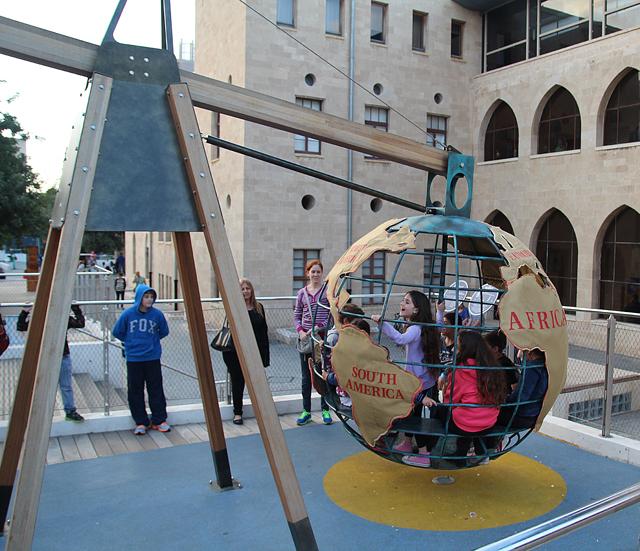Haifa Museum of science courtyard exhibit