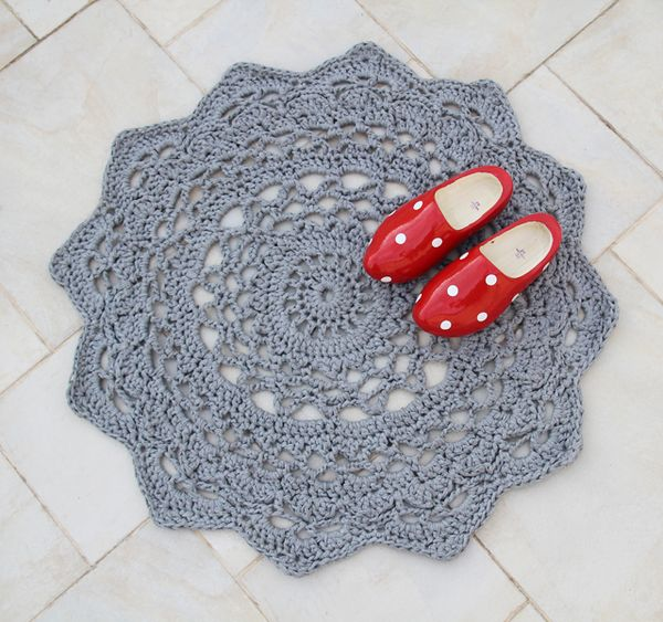 Giant Crocheted Doily Rug Pattern At Long Last