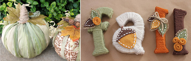 Corn husk pumpkin,yarn wrapped fall letters