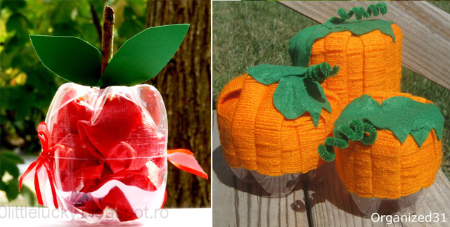 Plastic bottle apple,plastic bottle pumpkins