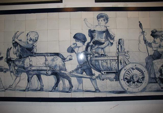 Delft Royal Delft factory museum tile mural