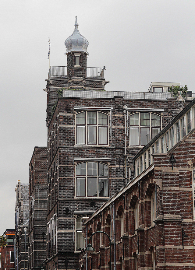 Delft Netherlands, building with turret