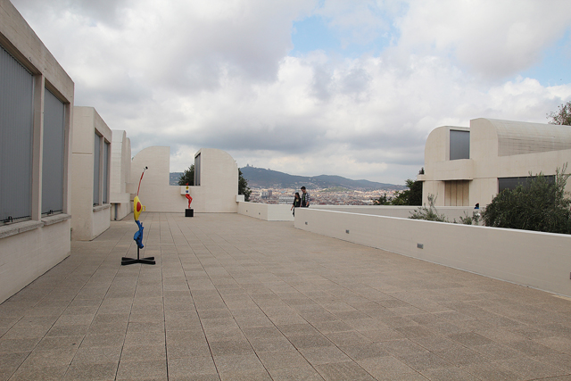 Barcelona Joan Miro Museum roof view