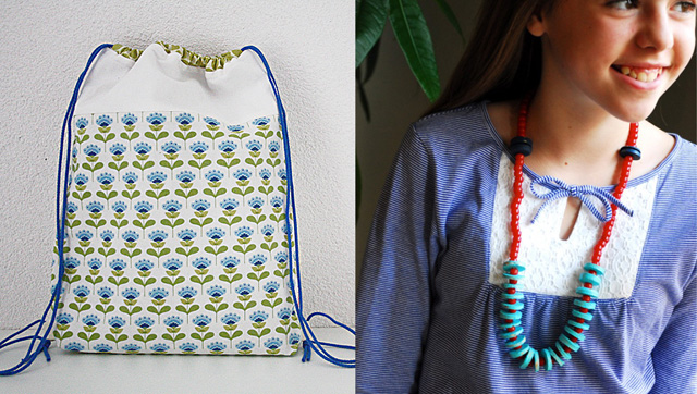 Drawstring backpack tutorial,cork disc necklace