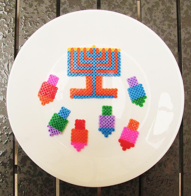 Hanukkah Hama Bead ornaments