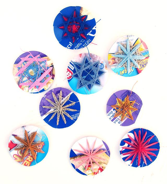 String Art Star Ornaments Back Side