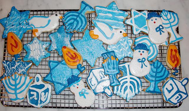 Hanukkah Iced Cookies
