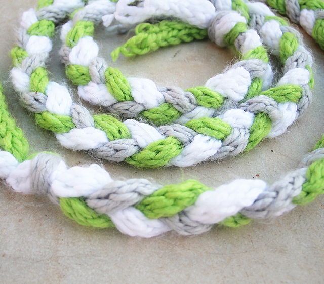 Finger Knitting Braided Scarf Winter Craft For Kids Creative