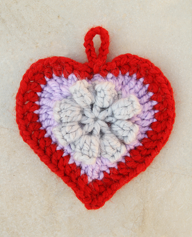 Crocheted Heart Ornament