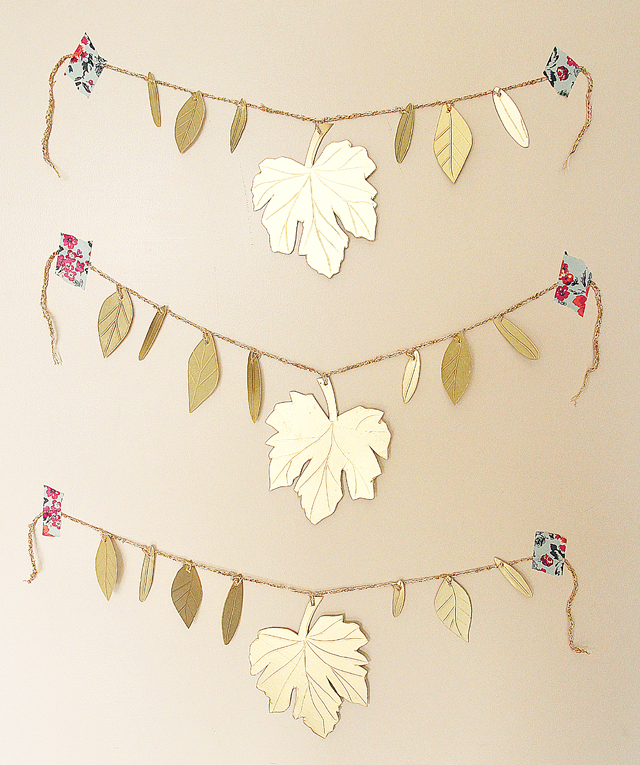 Golden Leaf Garland