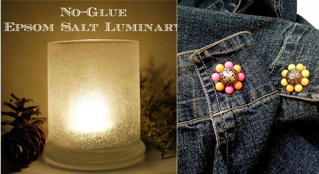Epsom salt no glue luminary,jacks buttons