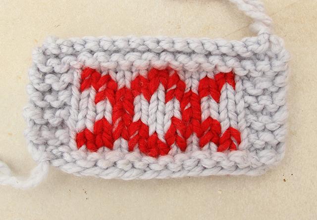 Embroidery on Knit Duplicate stitch