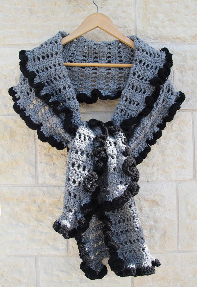 Crocheted Ruffled Edge Shawl Creative Jewish Mom