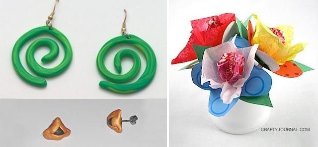 Fimo earrings,lollipop bouquet