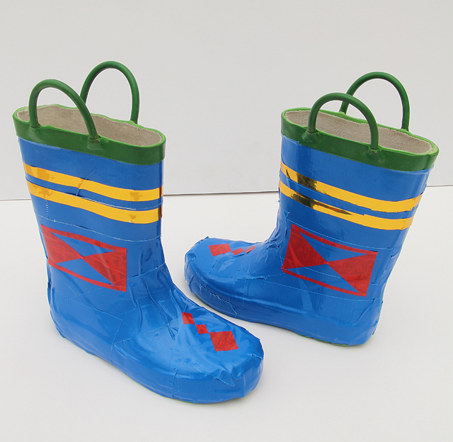 Duct Tape Ships Captain Boots