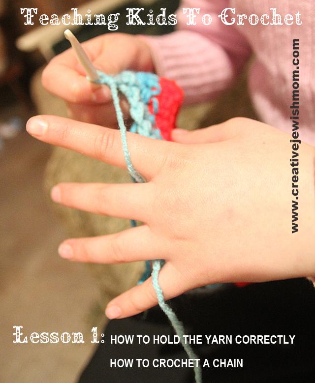 Teaching Kid to Crochet How To Hold Yarn